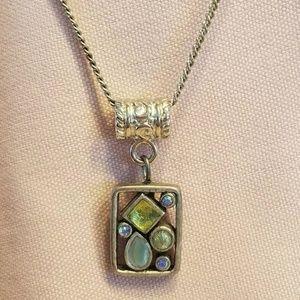 Lia Sophia Pendant Necklace Glass Cats eye